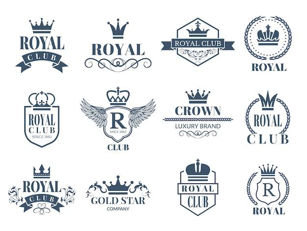 Conjunto de insignias reales y de lujo.