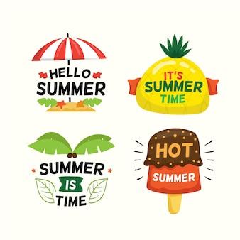 Conjunto de insignias de verano