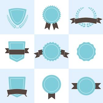 Conjunto de insignias