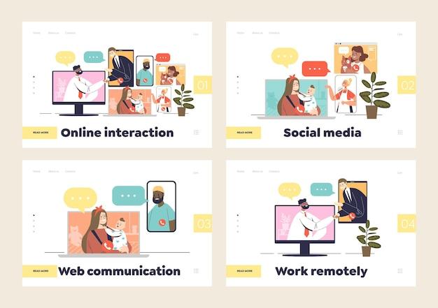 Conjunto de interacción de videollamadas y chat