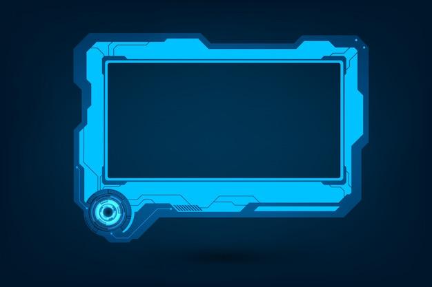 Conjunto de interfaz de control de pantalla de usuario futurista de hud