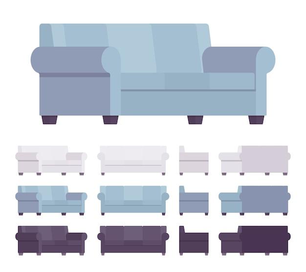 Conjunto interior de sofás