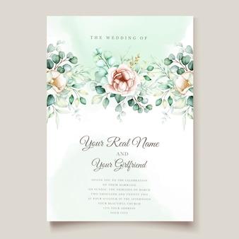 Conjunto de invitación de boda eucalipto