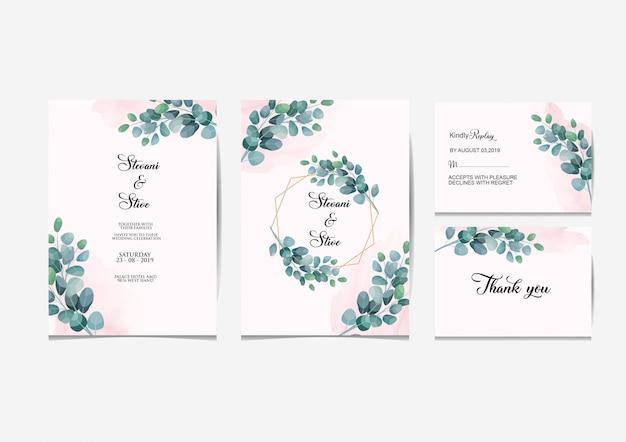 Conjunto de invitación de boda
