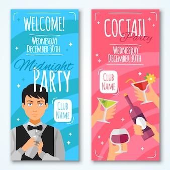 Conjunto de invitaciones de cóctel