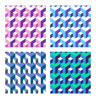 Conjunto de isométrico abstracto