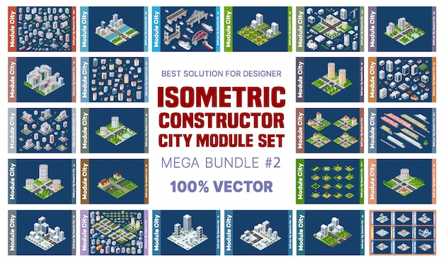 Conjunto isométrico de bloques módulo de áreas