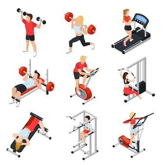 Conjunto isométrico de gimnasio