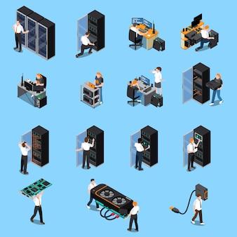 Conjunto isométrico de ingeniero informático