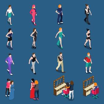 Conjunto isométrico de modelos de moda