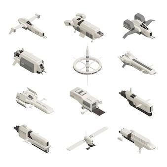 Conjunto isométrico de nave espacial