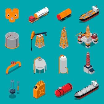 Conjunto isométrico de petróleo y gas