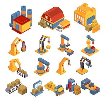 Conjunto isométrico de producción y entrega