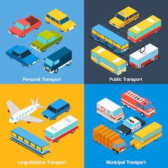 Conjunto isométrico de transporte