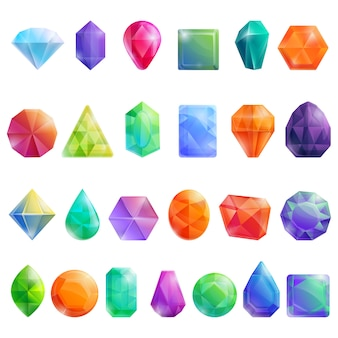 Conjunto de joyas, estilo de dibujos animados