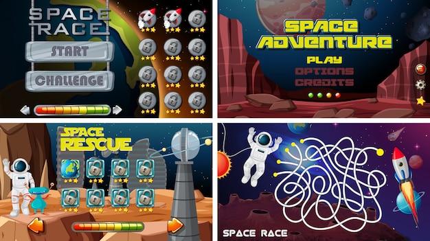 Conjunto de juegos espaciales
