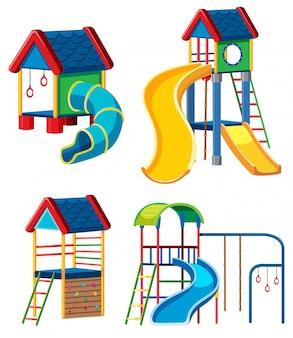 Conjunto de juegos infantiles.