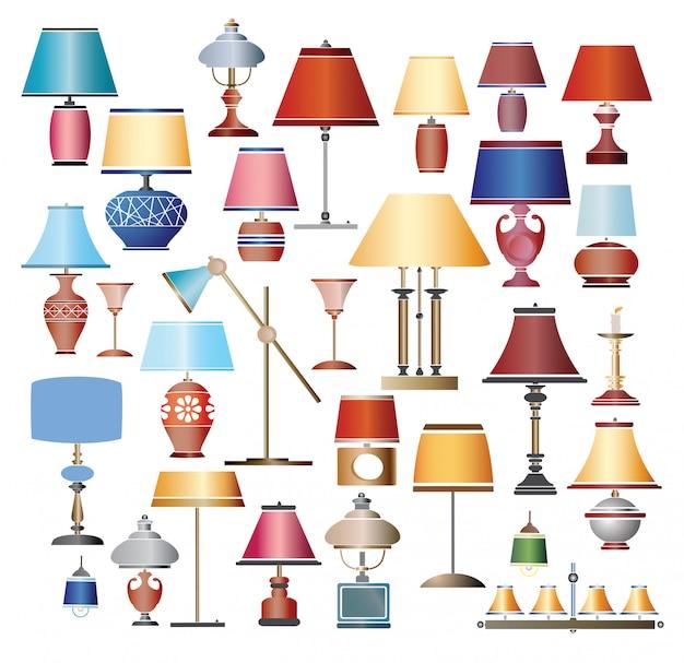 Conjunto de lámparas