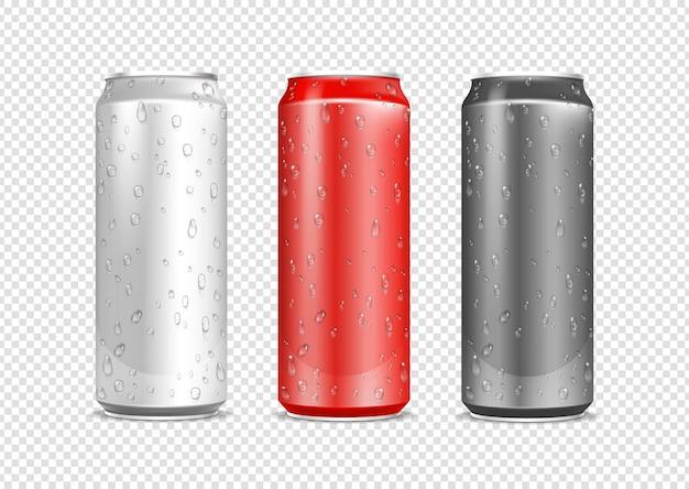 Conjunto de latas de aluminio