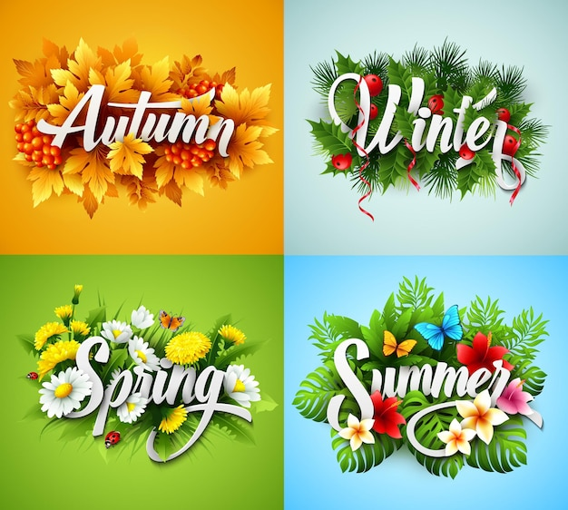 Conjunto de letras four seasons