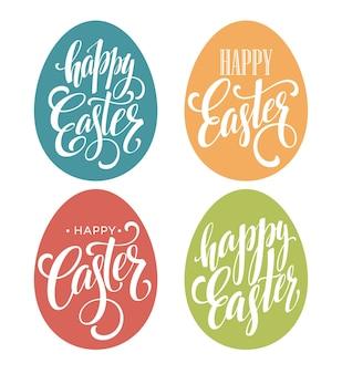 Conjunto de letras de huevo de pascua feliz