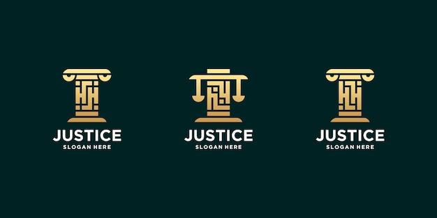 Conjunto de letras iniciales logo bufete de abogados hh