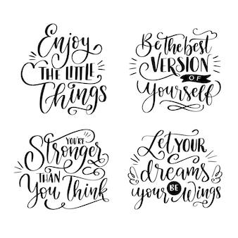 Conjunto de letras positivas