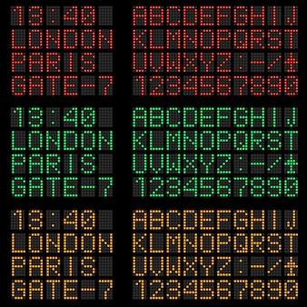 Conjunto de letras y símbolos.