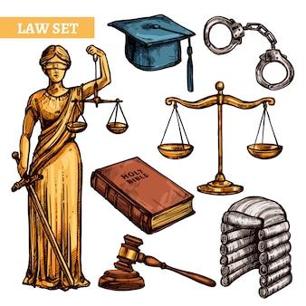 Conjunto de leyes decorativas