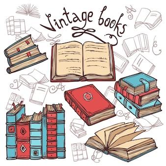 Conjunto de libros de bosquejo