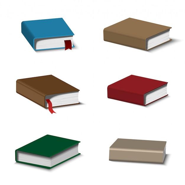 Conjunto de libros coloridos