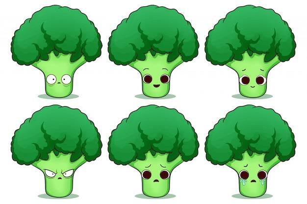 Conjunto de lindo brócoli