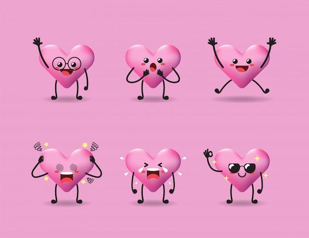 Conjunto de lindo diseño de expresión de amor