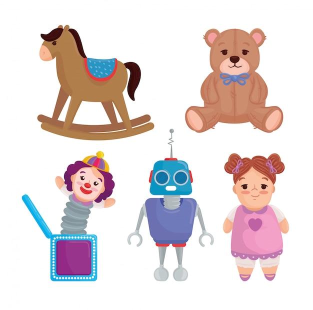 Conjunto de lindos juguetes para niños