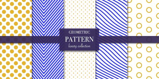 Conjunto de líneas geométricas y patrón de puntos