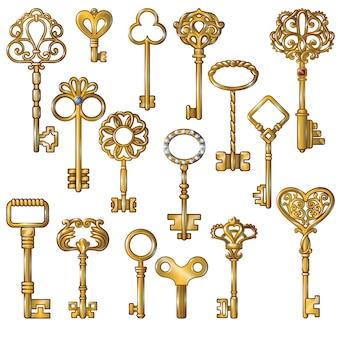 Conjunto de llaves de oro