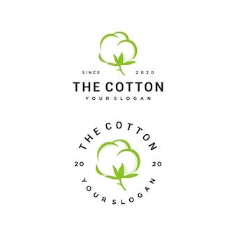 Conjunto de logo de algodón