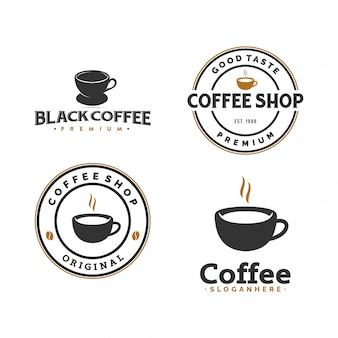 Conjunto de logo de cafe