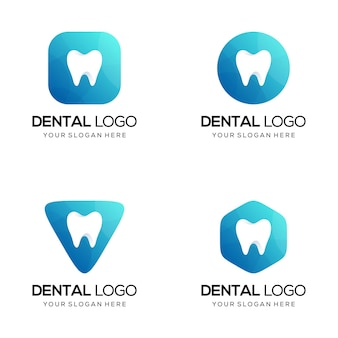 Conjunto de logo dental
