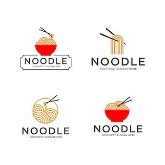 Conjunto de logo de fideos
