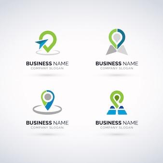Conjunto de logo gps