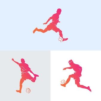 Conjunto de logo de jugadores de fútbol.