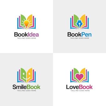 Conjunto de logo del libro
