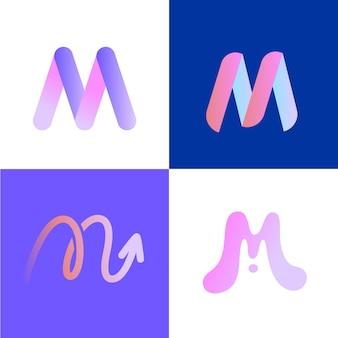 Conjunto de logo m