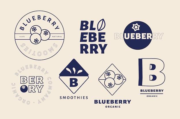 Conjunto de logo minimalista de dos colores