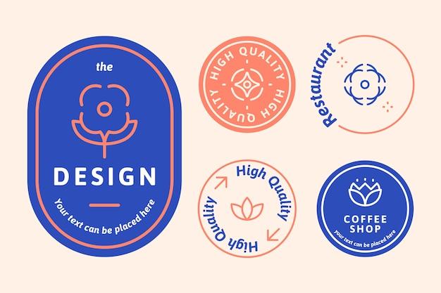Conjunto de logo natural