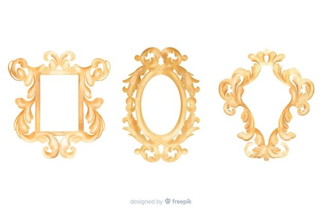 Conjunto de logo ornamental vintage