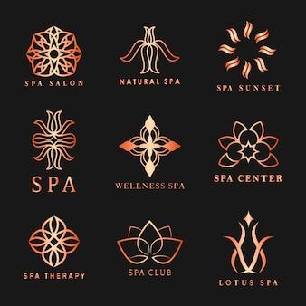 Conjunto de logo spa