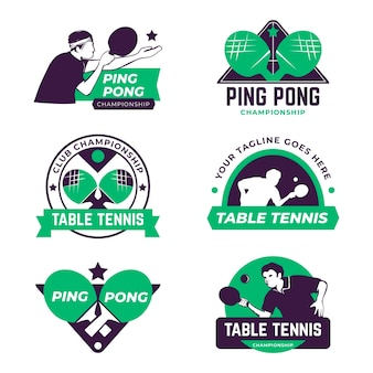Conjunto de logo de tenis de mesa