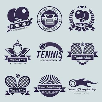 Conjunto de logo de tenis